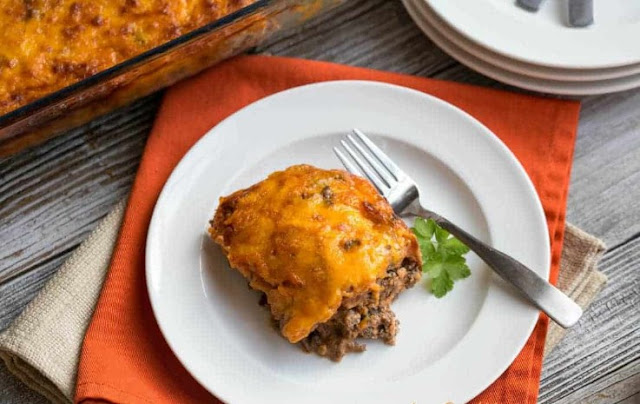 Low Carb Bacon Cheeseburger Casserole #keto #diet
