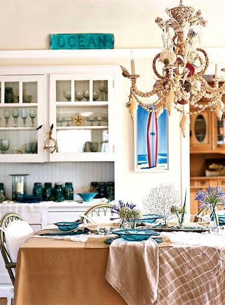 AnnieGlass Coastal Ocean Blue Plates Dinnerware