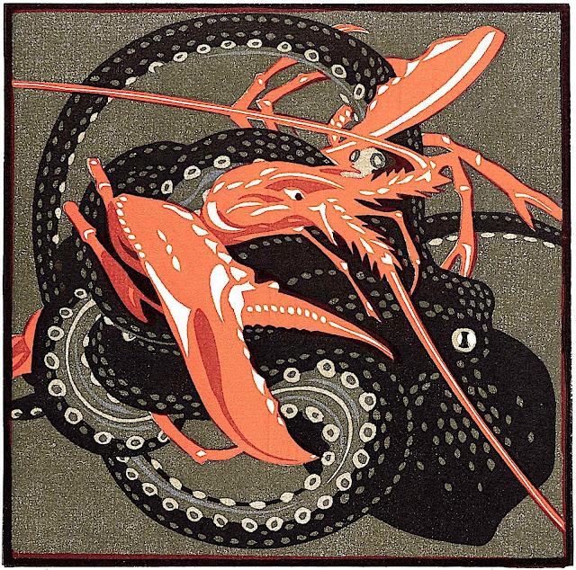 Norbertine von Bresslern-Roth, sea animals fighting