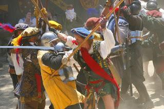 Renaissance Festival battle scene