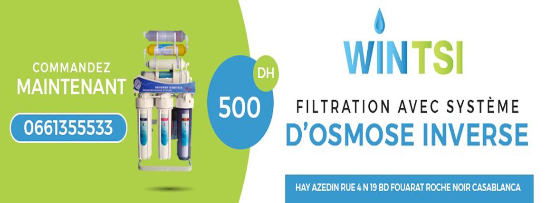 vente Filtres à eau au Maroc