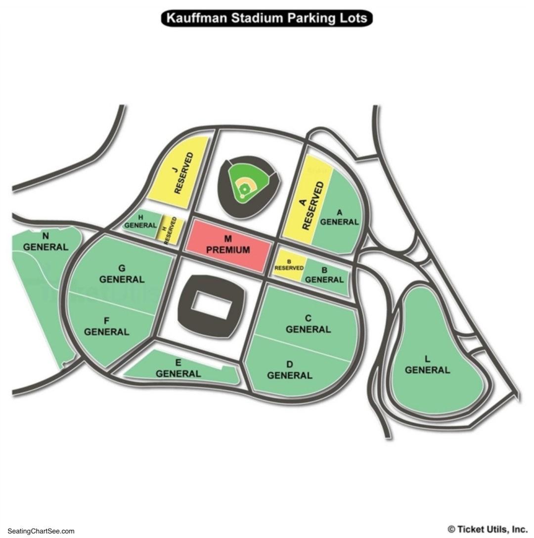 Beautiful Kauffman Stadium Parking Map Seating Chart