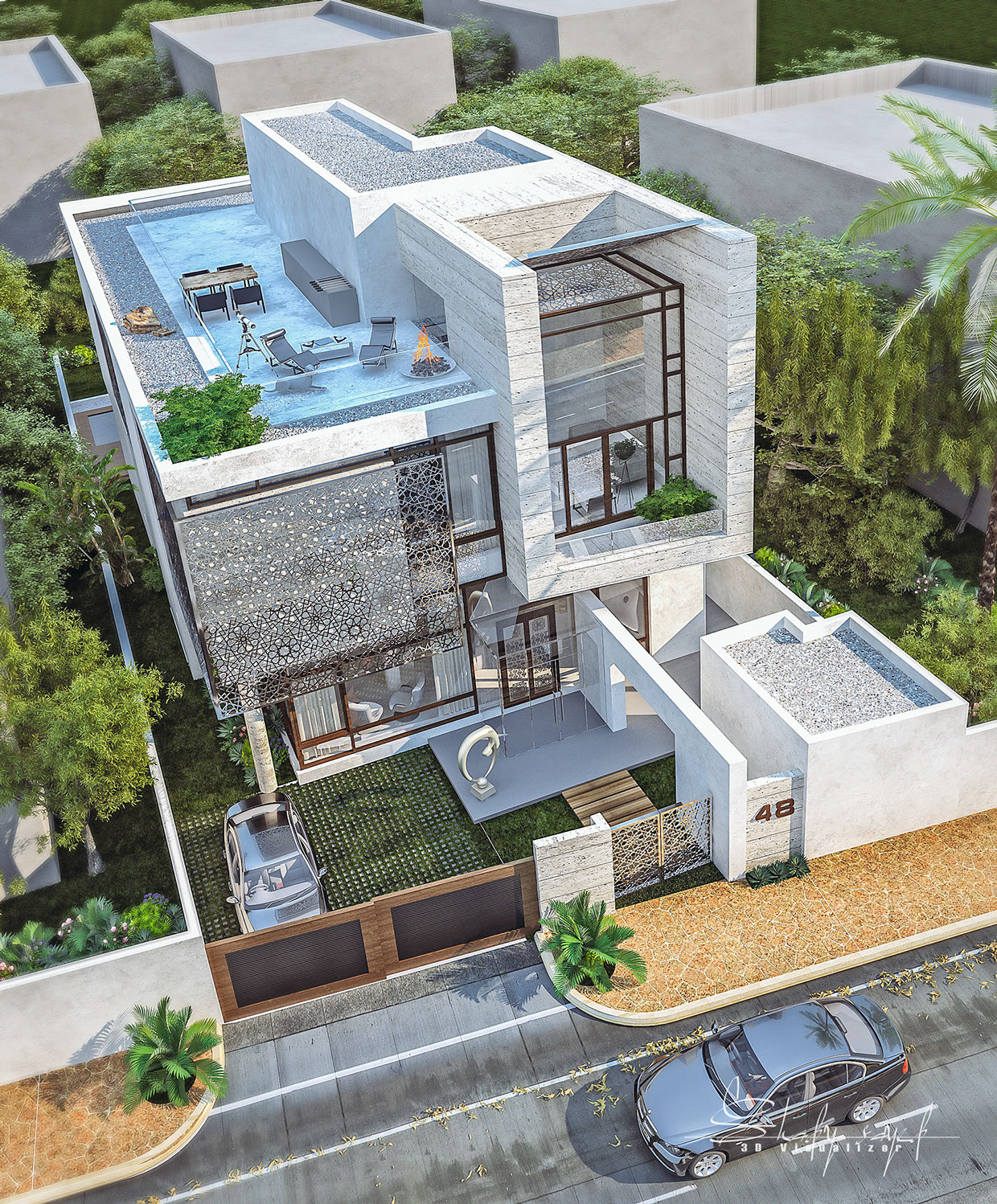 1000 ideas about House Elevation on Pinterest  Modern House Design Modern Houses and Home