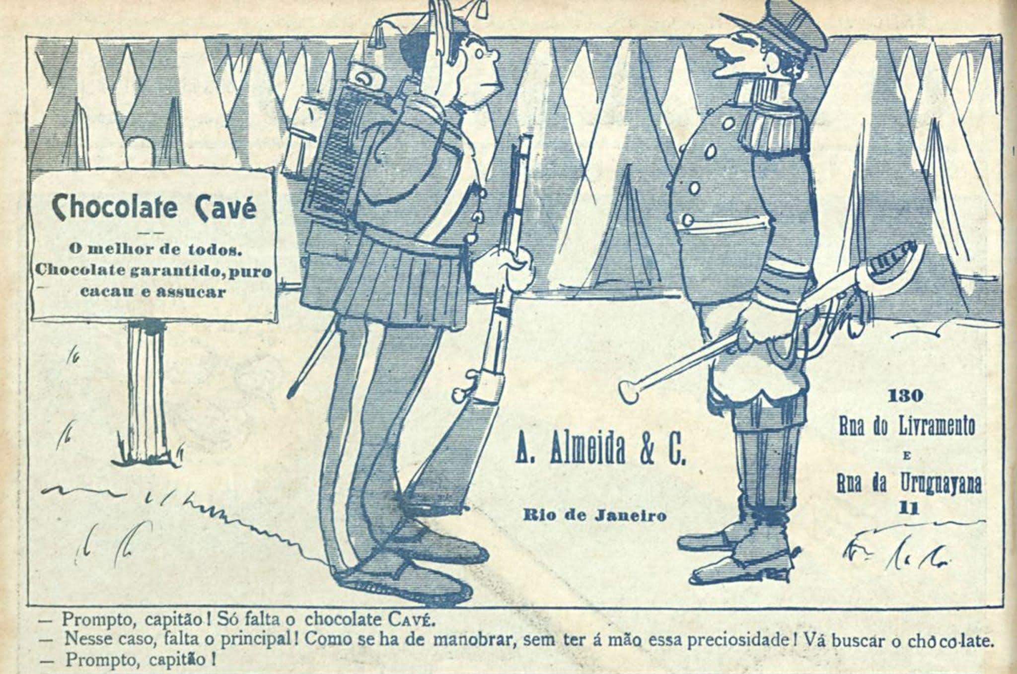 Anúncio antigo do Chocolate Cavé veiculado no ano de 1907