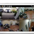 CCTV Cameras on Mobile screen.