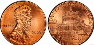 2009 abraham lincoln penny