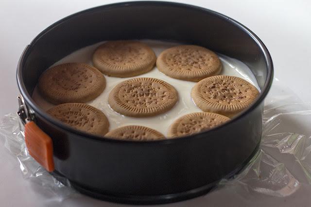 tarta de crema de limón con galletas hojaldradas paso a paso