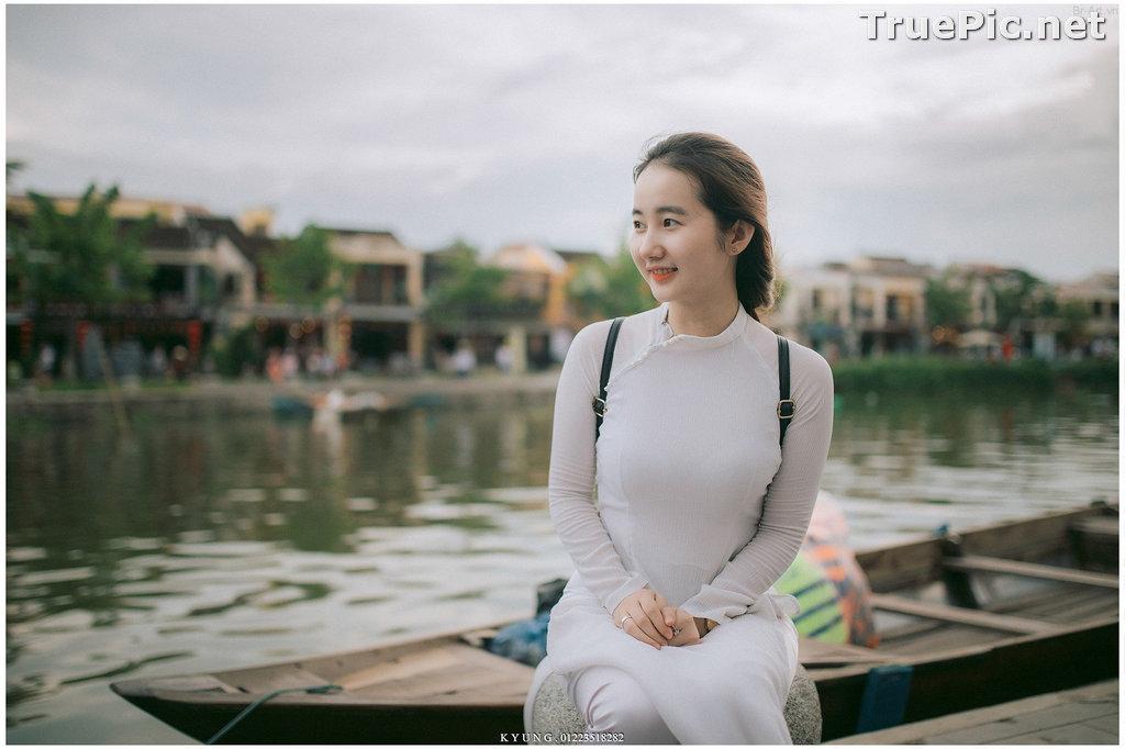Image Vietnamese Cute Girl - Vo Xuan Chau - Ao Dai at Hoi An - TruePic.net - Picture-5