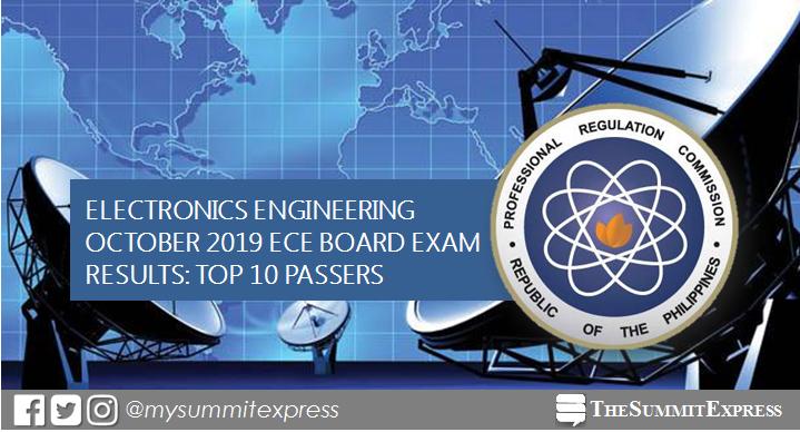 RESULT: Top 10 October 2019 ECE board exam topnotchers