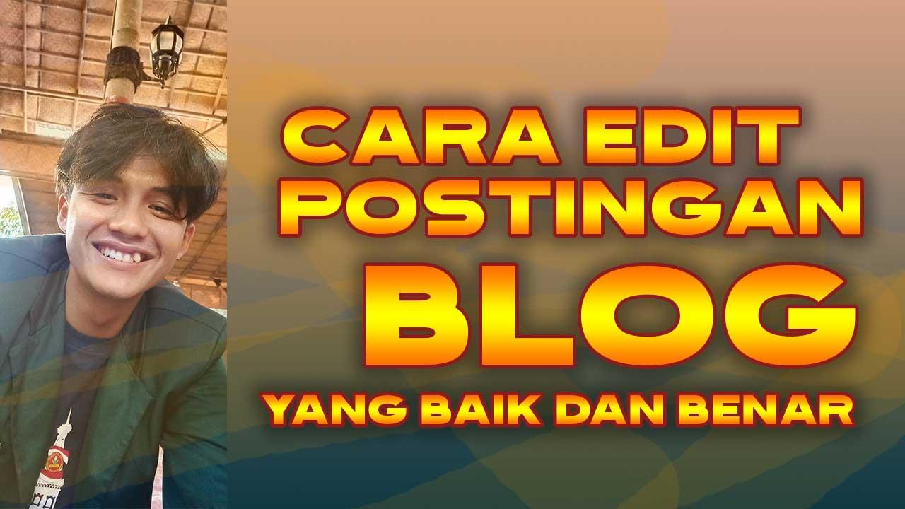 Cara Posting Artikel Blog yang Baik dan Benar