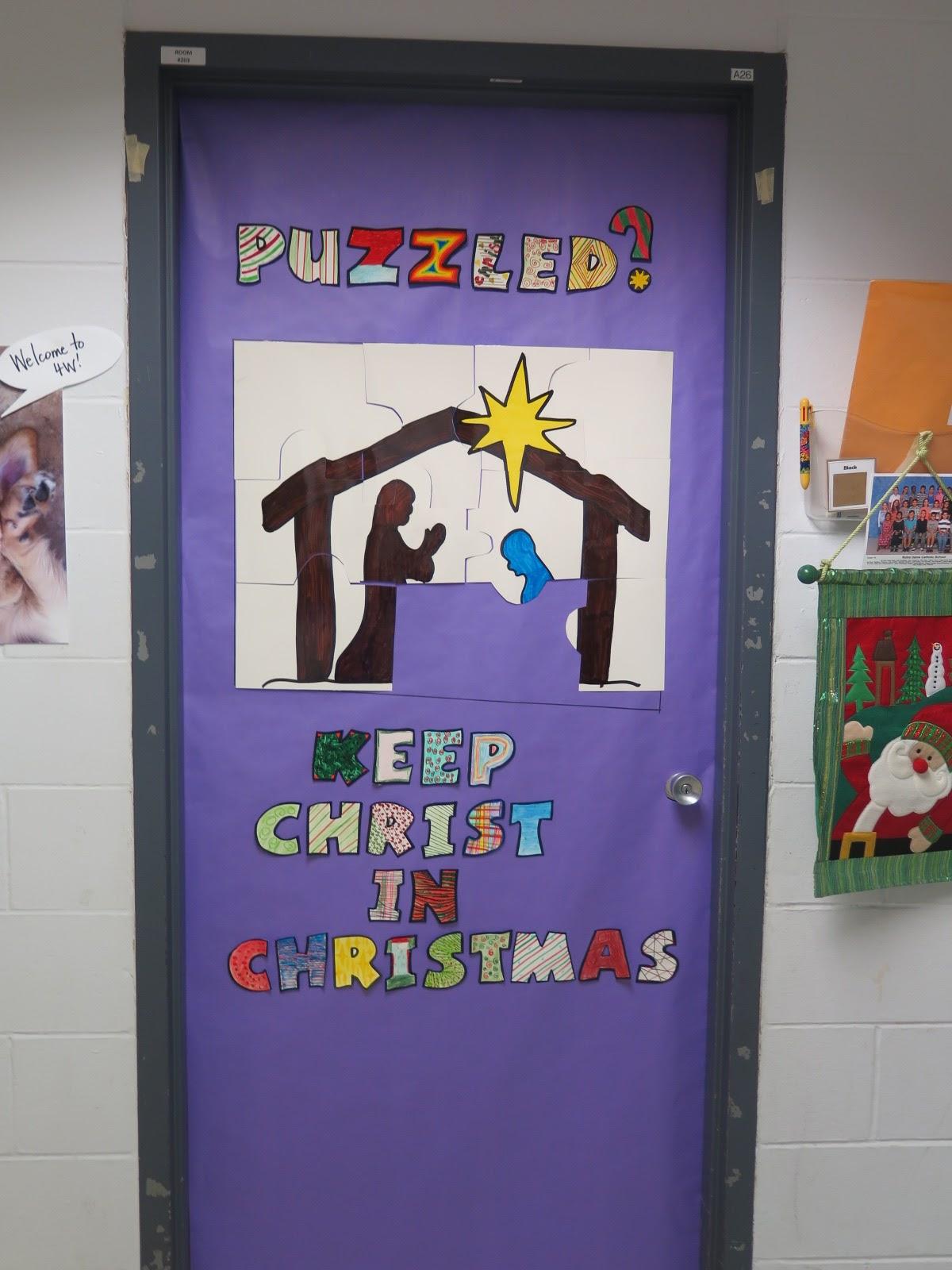 Sunday School Christmas Door Decorations