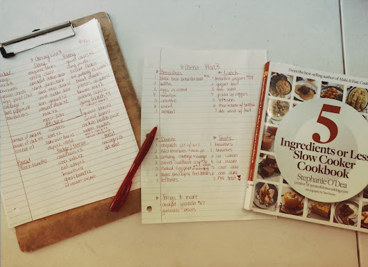 Menu Plan + Weekly Goals...