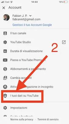 2. visualizzare propri commenti youtube app iphone android_risultato