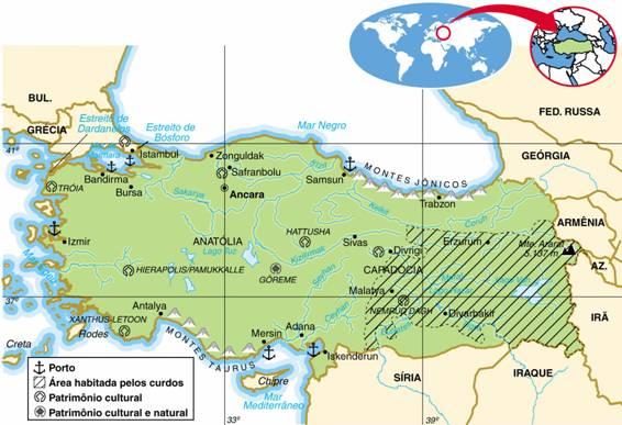 TURQUIA - ASPECTOS GEOGRÁFICOS E SOCIAIS DA TURQUIA