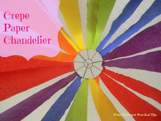 Crepe Paper Party Chandelier