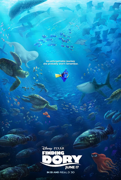 Poster Of Finding Dory 2016 720p Hindi BRRip Dual Audio Full Movie Download