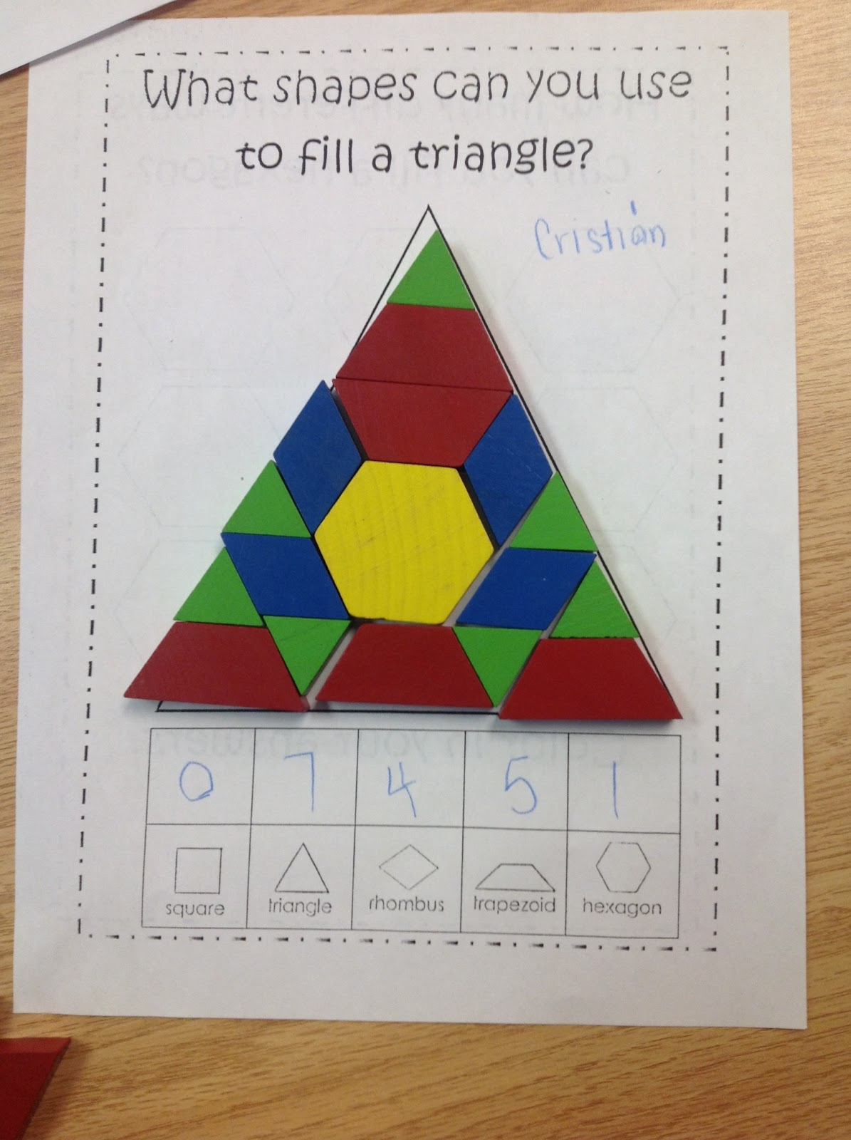 Shape Puzzles With Tangrams Ms C S Classroom