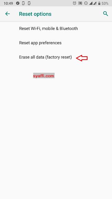 Cara Melakukan Factory Reset (Erase All Data) pada Xiaomi Mi A1