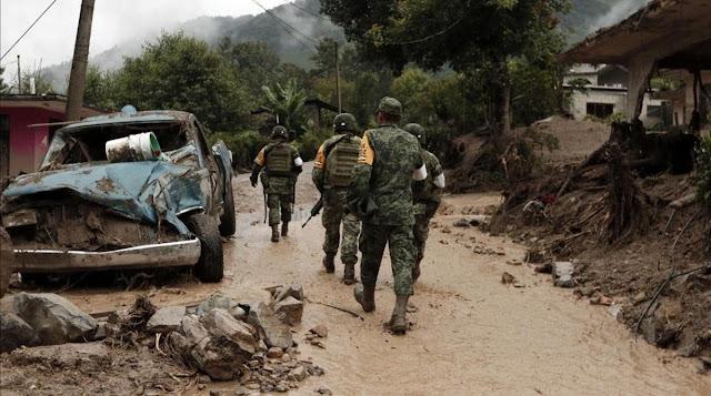 Topón de Militares y Jaliscos tras emboscada a convoy del Ejercito en Tangamandapio, Michoacán; 1 saldo es abatido y 7 Sicarios del CJNG fueron dados de baja