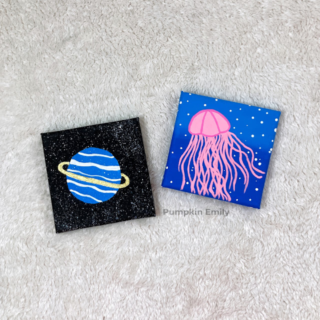 Two mini canvas painting ideas