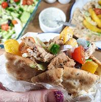 Greek Chicken Gyros & Tzatziki | Healthy Fakeaway Recipe | Slow Cooker Recipe
