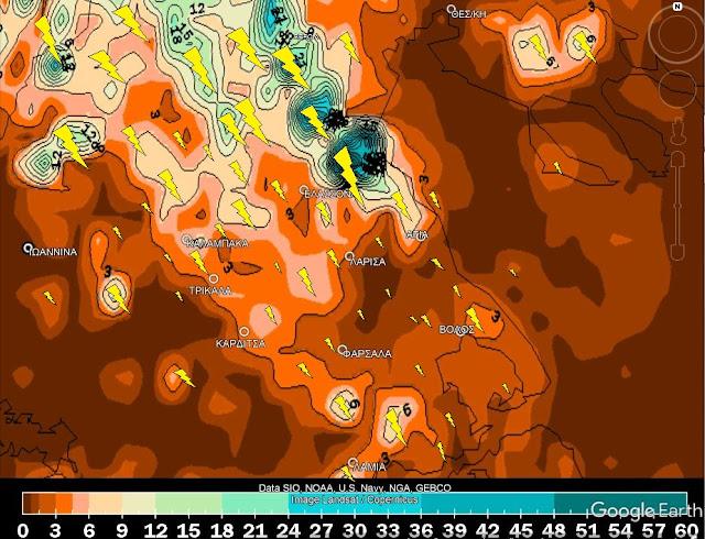 44 - Που θα βρέξει 25-26/8/2020 Λάρισα-Θεσσαλία-Ελλάδα (Χάρτες)