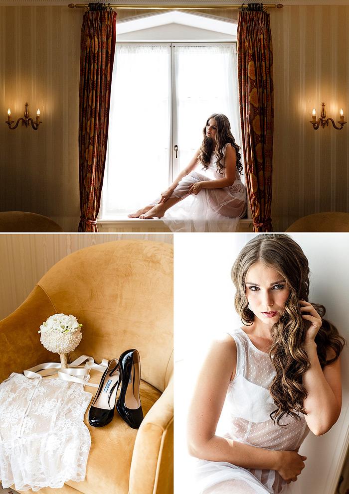 Bildideen für ein Braut Boudoir Fotoshooting im Luxus Hotel mit Fotografin.