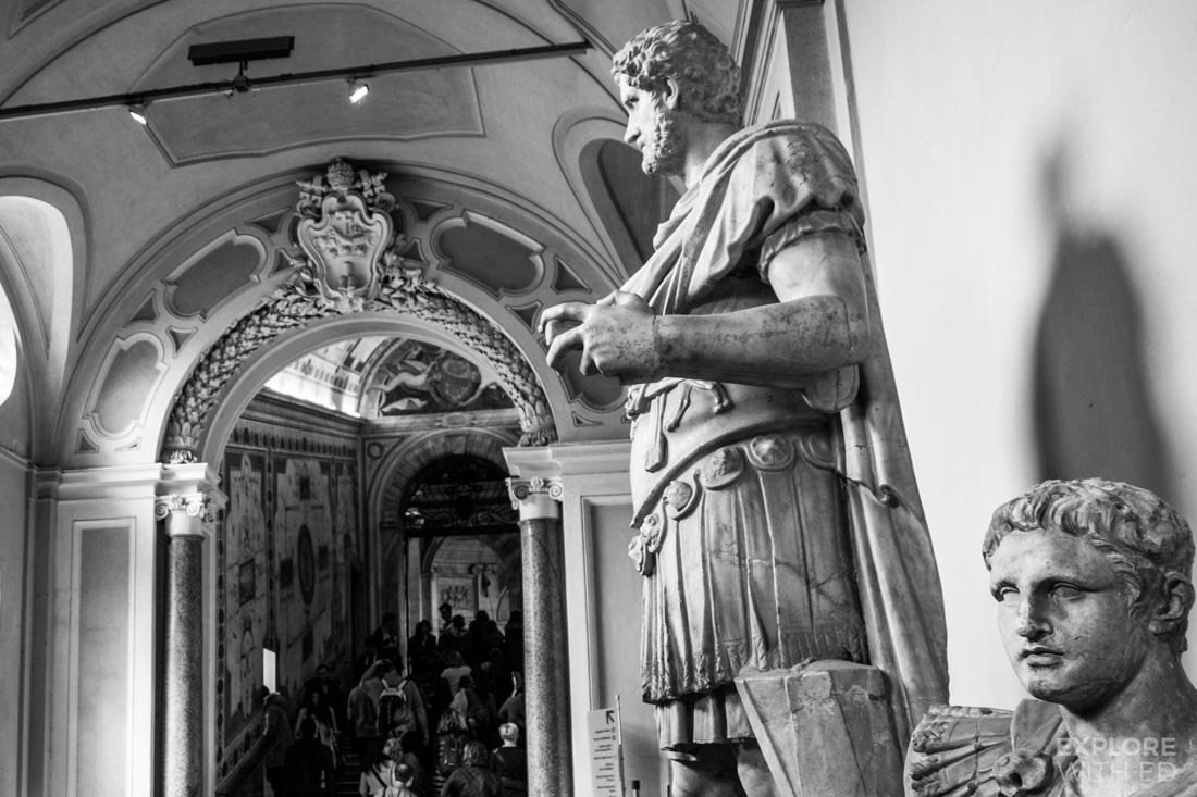 Roman Sculptures in Vatican Museum