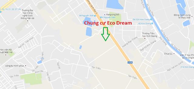 Vị trí dự án chung cư Ecodream Nguyễn Xiển.