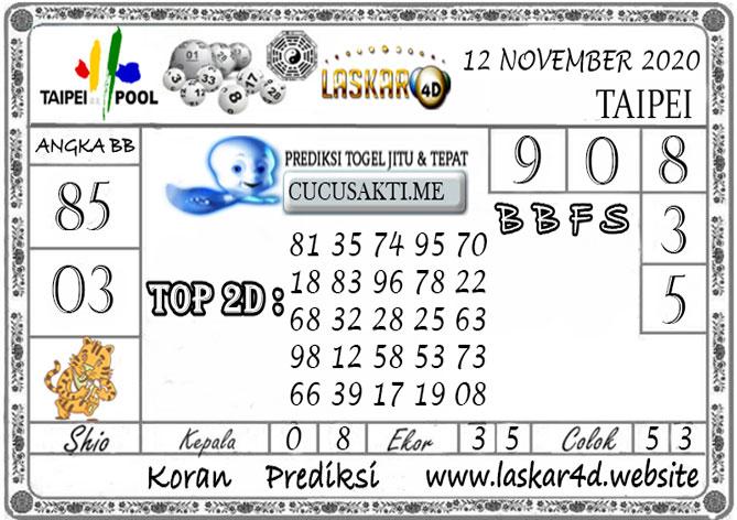Prediksi Togel TAIPEI LASKAR4D 12 NOVEMBER 2020
