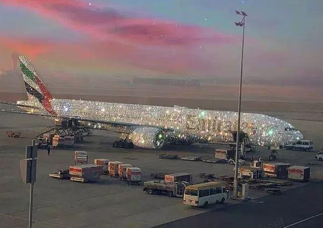 Emirates Airline Introduce Diamond Coated Aeroplane (Photos)
