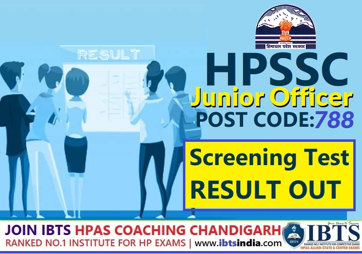 HPSSC Junior Officer Post Code 788 Final Result Out: (Supervisor Trainee F& A) At S-O Level - Check Here Now