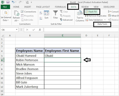 Manage Data By Using Flash Fill in Microsoft Excel
