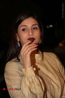 Mannara Chopra Stills in Cream Colour Long Dress at Gemini TV Puraskaralu 2016 Event