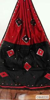 Handloom Cotton Silk Sarees With Mirror Work