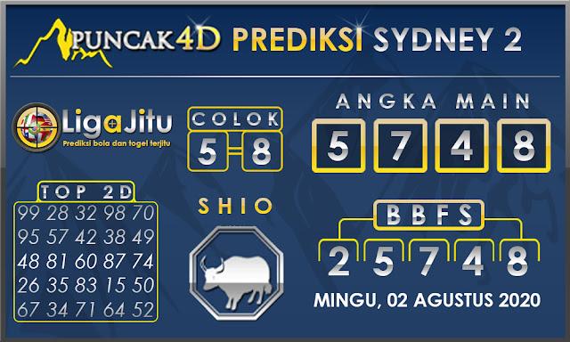 PREDIKSI TOGEL SYDNEY2 PUNCAK4D 02 AGUSTUS 2020