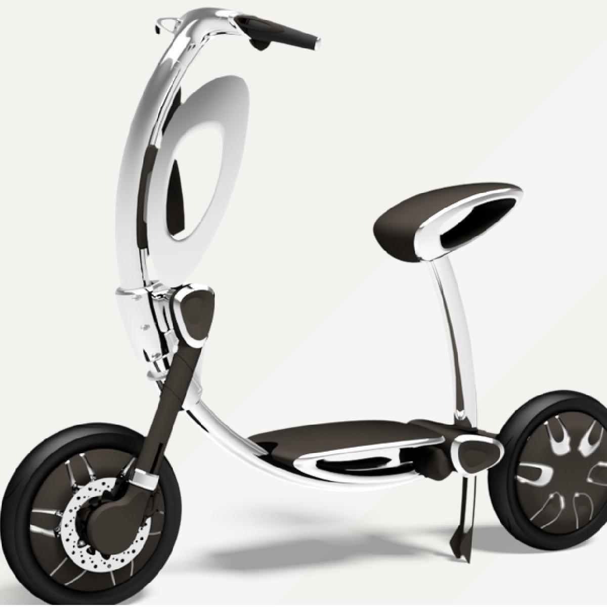 Le scooter Inu qui fonctionne à l'électricité.