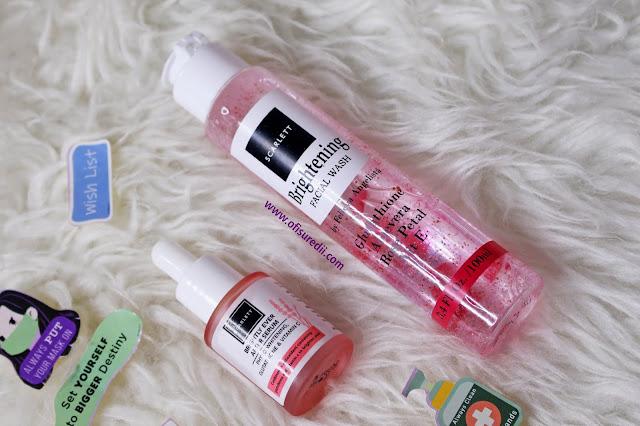 scarlett brightly ever serum dan scarlett brightening facial wash