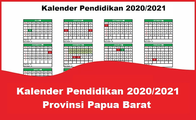 Kalender Pendidikan 2020/2021 Provinsi Papua Barat