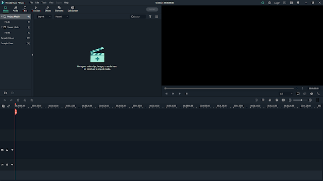 Wondershare Filmora Video Editing Software UI