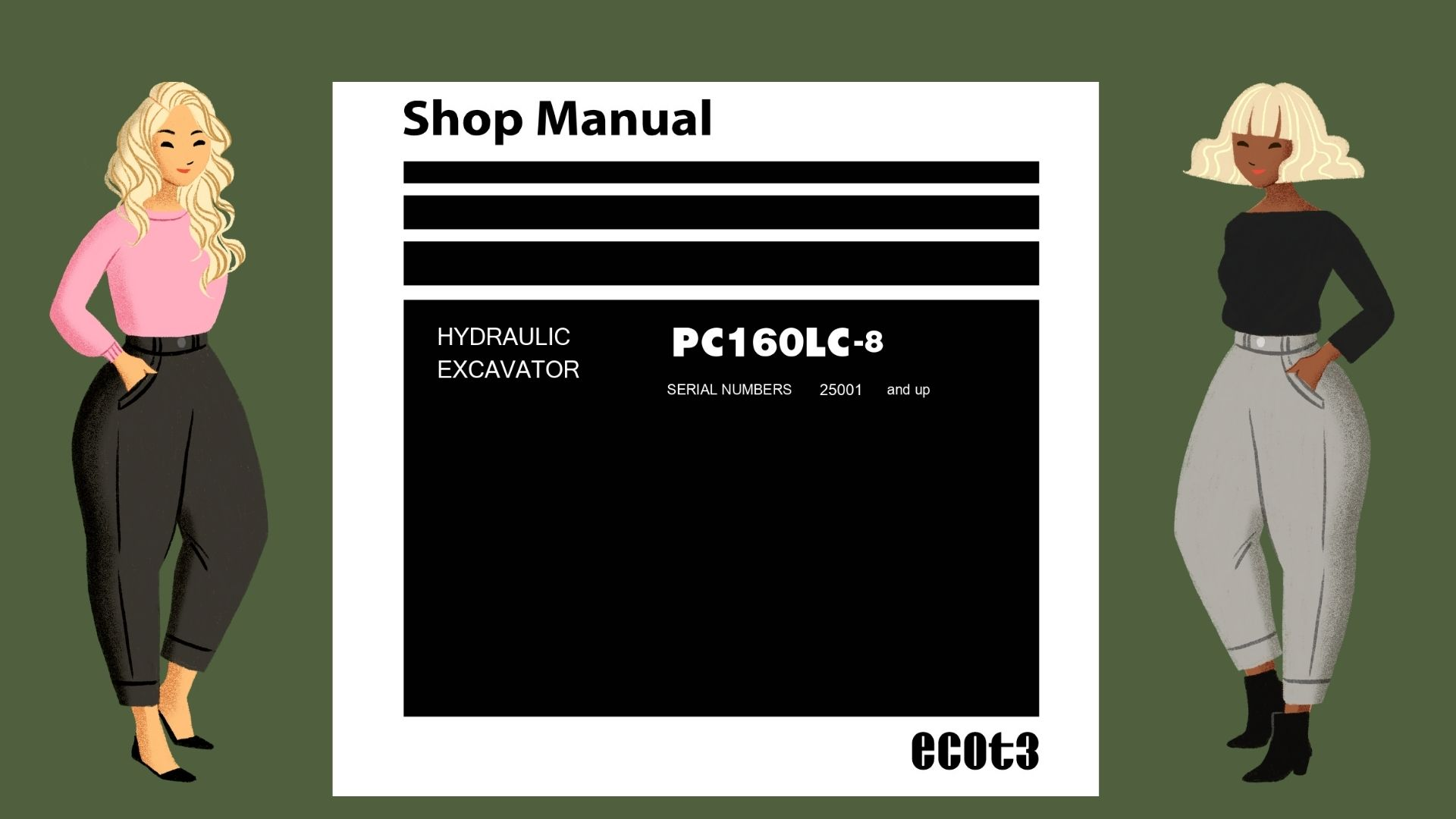 PC160LC-8 Shop Manual Excavator Komatsu