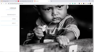cara membuat website portofolio foto