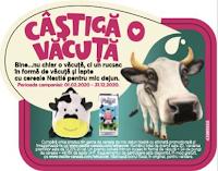 Castiga un rucsac in forma de vacuta, lapte si cereale pentru mic dejun - concurs - nestle - win - cow - castiga.net