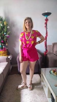 look rosa para ano novo