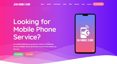 Raj Mobile Clinic Website