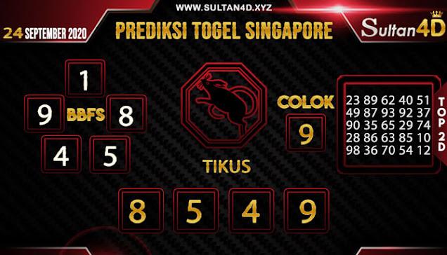 PREDIKSI TOGEL SINGAPORE SULTAN4D 24 SEPTEMBER 2020