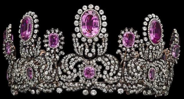 pink topaz parure tiara princess marie wurttemberg