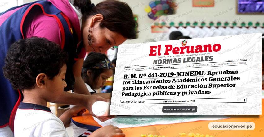MINEDU aprobó lineamientos académicos para escuelas pedagógicas (R. M. Nº 441-2019-MINEDU)