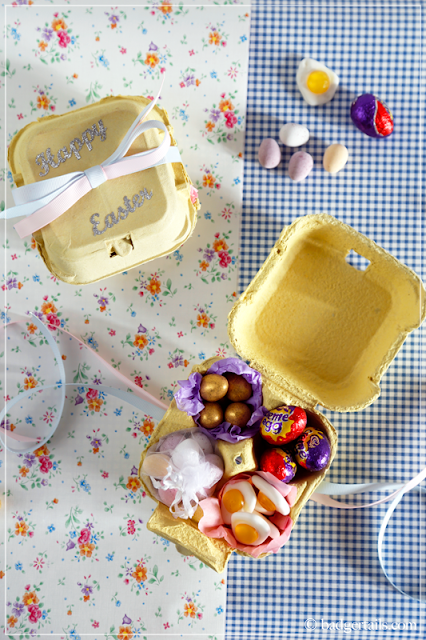 Sweetie-filled Egg Box Easter Gift