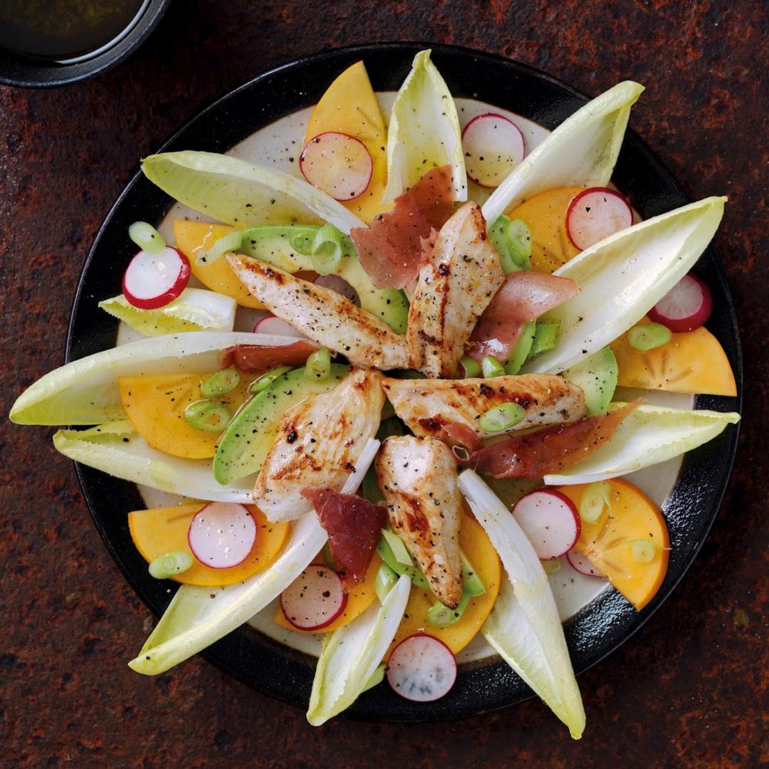 Sizzled Chicken, Serrano and Persimon® Salad